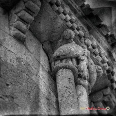 """""""Piscis"""" Modillons de l'église Saint-Sauveur, cité médiévale de Saint-Macaire. 28/09/2019. Photographie © Christian Coulais"""