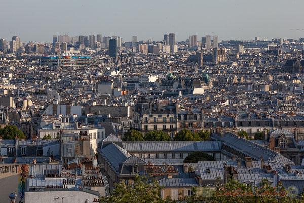Vue depuis la Basilique du Sacré-Cœur de Montmartre, Paris 18ème arrondissement