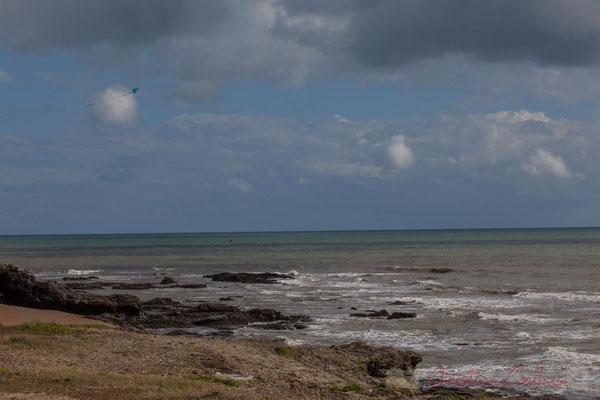 """""""Cerf-volant"""". Aux environs de la Baillette, Corniche Vendéenne, Vendée, Pays de la Loire"""
