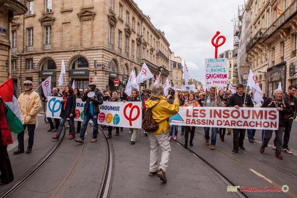 """11h09 """"Une société comme ça, on en veut pas !"""" La France insoumise, cours de l'Intendance, Bordeaux. 01/05/2018"""