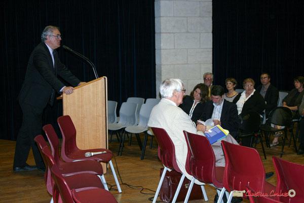 Jean-Marie Darmian, Vice-président du Conseil général de la Gironde, Lancement officiel de l'opération nationale Arbres de la Laïcité. Créon, 19/06/2010