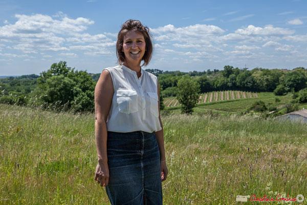 Anne-Laure Fabre-Nadler, candidate aux élections législatives 2017 Europe Ecologie les Verts / Parti Socialiste. Saint-Laurent-du-Bois, 16 mai 2017
