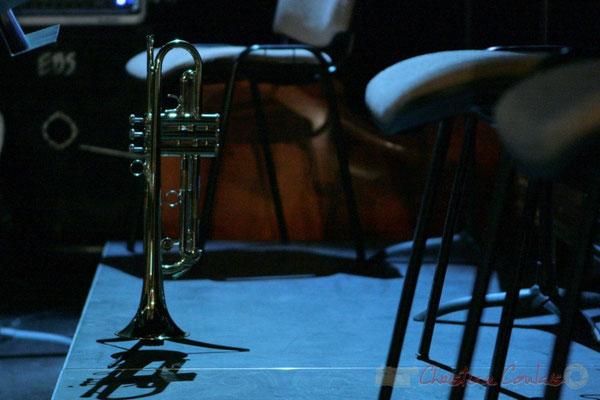 Trompette. Pause du Conservatoire Jacques Thibaud, section MMA. Festival JAZZ360, Les coulisses du Festival à Cénac. 03/06/2011