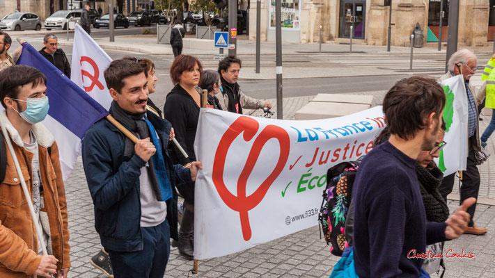 La France insoumise Gironde. Manifestation intersyndicale, Bordeaux, mardi 5 octobre 2021. Photographie © Christian Coulais