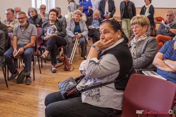 """Martine Faure, ex-députée de la Gironde. Sortie et dédicace du livre """"Le jour où..."""" de Jean-Marie Darmian. Salle citoyenne, Créon. 14/10/2017"""