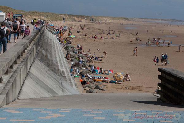 La Grande Plage depuis la Promenade Marie Tsvetaieva, Saint-Gilles-Croix-de-Vie, Vendée, Pays de la Loire
