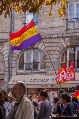 """No pasaran"" Manifestation intersyndicale de la Fonction publique, place Gambetta, Bordeaux. 10/10/2017"