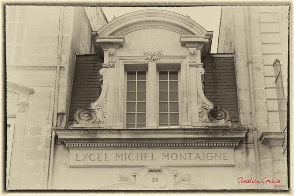 """""""Bureau du proviseur ?"""" Lycée Michel Montaigne, au 35 rue du Mirail, Bordeaux. Mercredi 24 juin 2020. Photographie © Christian Coulais"""