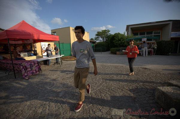 Festival JAZZ360 2015, Robin Dutartre, Conseiller municipal à la jeunesse. Alllées des écoliers, Cénac, 12 juin 2015