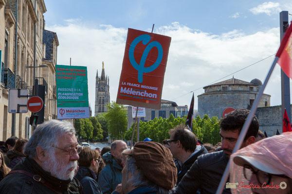 """""""Passons à la planification écologique"""" Manifestation du 1er mai 2017, avec la France Insoumise, cours d'Albret, Bordeaux"""