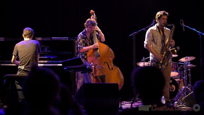 Philippe Gueguen, Philippe Siffre, Paul Robert; Edmond Bilal Band, Festival JAZZ360 2013, Cénac. 07/06/2013