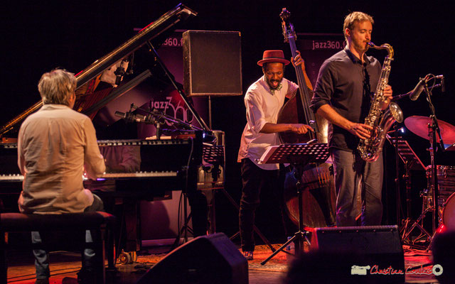 Vincent Bourgeyx, Joe Sanders, David Prez; Vincent Bourgeyx Quartet. Festival JAZZ360 2018, Cénac. 09/06/2018