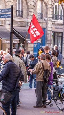Lutte ouvrière. Manifestation intersyndicale de la Fonction publique, place Gambetta, Bordeaux. 10/10/2017