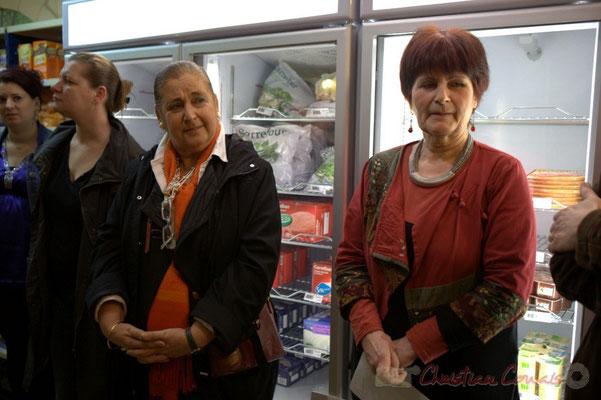 Martine Faure, Mireille Ormaechea, Epicerie solidaire, l'Annexe de la Cabane, 38, rue Amaury de Craon à Créon