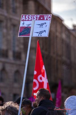 """""""Association Assit-Victimes Civiles (suite aux victimes des L.B.D.)"""" Manifestation contre la loi Sécurité globale. Samedi 28 novembre 2020, place de la Bourse, Bordeaux. Photographie © Christian Coulais"""