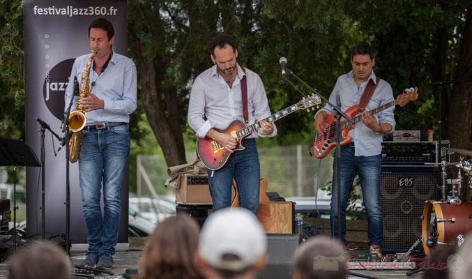 Thomas Lachaize, Jean Lassallette, Nicolas Mirande, Taldea Group. Festival JAZZ360 2016, Quinsac