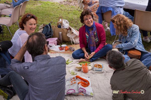 (Le vrai, sans table, ni chaise) Pique-nique vigneron avec Nicolas Saez Quartet, Festival JAZZ360 2019, Château Duplessy, Cénac, lundi 10 juin 2019