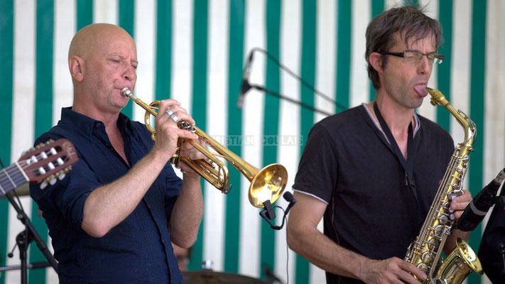 Festival JAZZ360 2014, Alain Duffort, Thierry Taveaux; Jazzméléon Trafic. Cénac, 07/06/2014