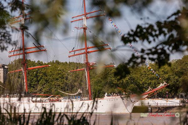 Le Sedov depuis le Parc aux Angéliques, quai de Queyries. Bordeaux, 22/06/2019 Reproduction interdite - Tous droits réservés © Christian Coulais
