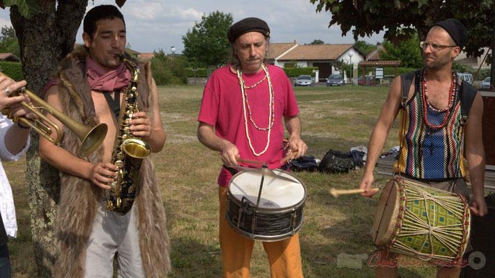 Elephant Brass Machine, Mathis Polack, Jean-Michel Achiary, Ludovic Lesage. Festival JAZZ360 2015, Cénac, 12/06/2016