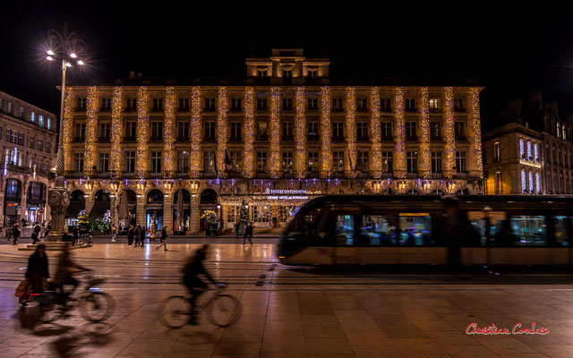"""""""Bordeaux XXIème"""" Place de la Comédie & Intercontinental Bordeaux le Grand Hôtel. Mercredi 16 décembre 2020. Photographie © Christian Coulais"""