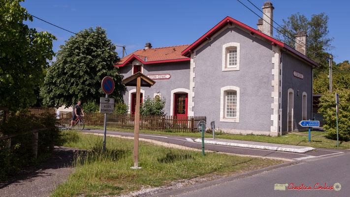 Piste cyclable Roger Lapébie, voie verte des Deux Mers. Gîte intercommunale de la gare de Citon-Cénac. 13/05/2018