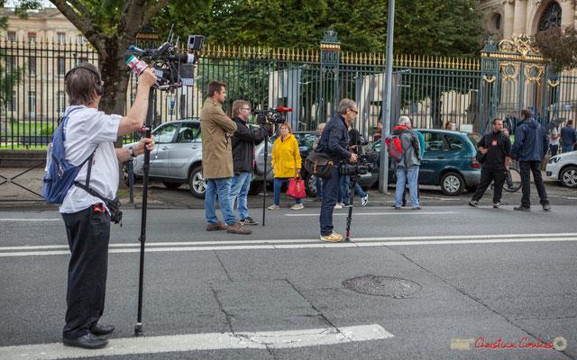 """""""L'information sans concession"""" Manifestation contre la réforme du code du travail. Cours d'Albret, Bordeaux, 12/09/2017"""