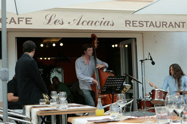 19h30 SoupéJazz au Restaurant les Acacias avec West Side Trio. Festival JAZZ360 2011, Cénac. 03/06/2011
