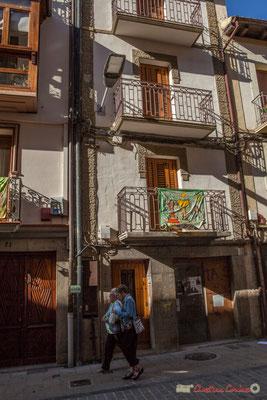 Façade de maisons, Calle Mayor, Sangüesa, Navarra