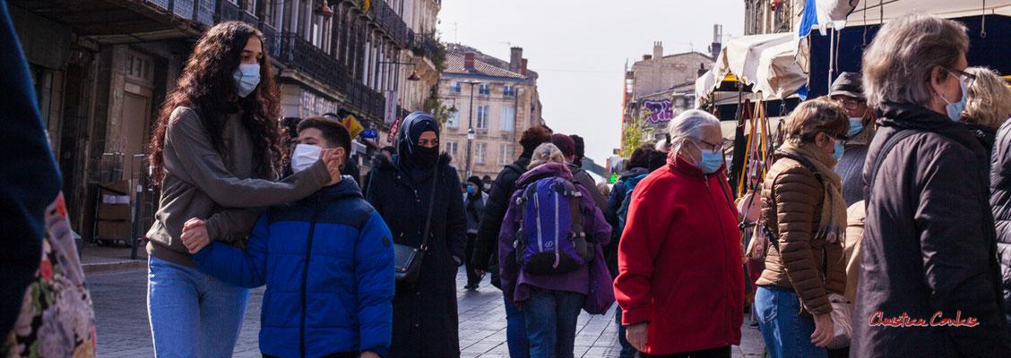 """""""Lobe d'oreille"""" Rue Clare, Bordeaux. Samedi 6 mars 2021. Photographie © Christian Coulais"""