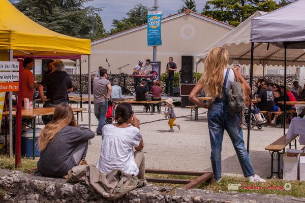 """""""Ambiance quinsacaise"""" The Protolites, scène d'été de la Gironde. Festival JAZZ360, Quinsac. 09/06/2019"""