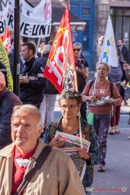 """""""Demandez l'Anticapitaliste"""" Manifestation intersyndicale de la Fonction publique, place Gambetta, Bordeaux. 10/10/2017"""