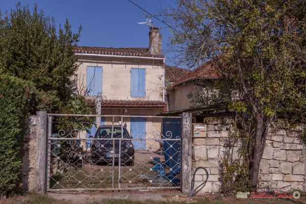 1 Habitat vernaculaire. Avenue de Lignan, Cénac, Gironde. 16/10/2017