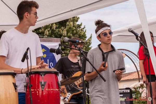 Percussions. Big Band Jazz du Collège Eléonore de Provence, dirigée par Rémi Poymiro. Festival JAZZ360 2018, Cénac. 08/06/2018