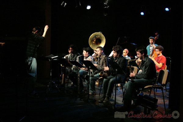 Big Band du Conservatoire Jacques Thibaud, section Musiques Actuelles Amplifiées-Jazz. Festival JAZZ360 2010, Cénac. 14/05/2010
