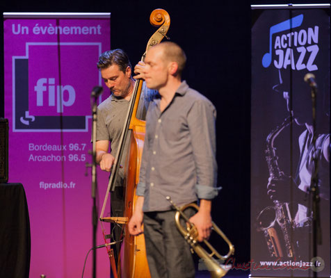 Jérôme Amandie, Jérôme Dubois, quintet On Lee Way. Tremplin Action Jazz 2017. Le Rocher de Palmer, Cenon