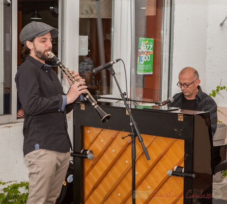 Denis Girault, Fred Lasnier, Louisiana Jazz Duo. Festival JAZZ360 2016, restaurant les Acacias, Cénac, 11/06/2016