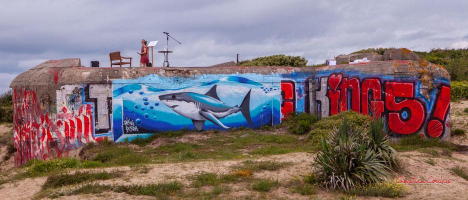 """""""Scène improbable 3"""" Bunker, batterie des Arros, mur de l'Atlantique, Soulac-sur-Mer. Samedi 3 juillet 2021. Photographie © Christian Coulais"""