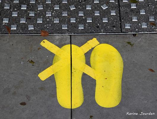 13 nuances de jaune. Bordeaux, samedi 5 décembre 2020. Photographie © Karine Jourdan