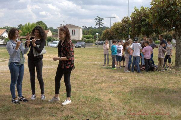 Les élève du Collège côtoient les CM1-CM2 de l'école du Tourne, Chorale Jazz. Festival JAZZ360, Cénac, 12/06/2015