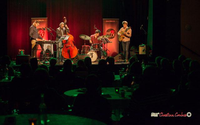 Soirée Cabaret JAZZ360 avec Capucine Quartet : Félix Robin, Louis Laville, Thomas Galvan, Thomas Gaucher. Cénac, Samedi 16 mars 2019