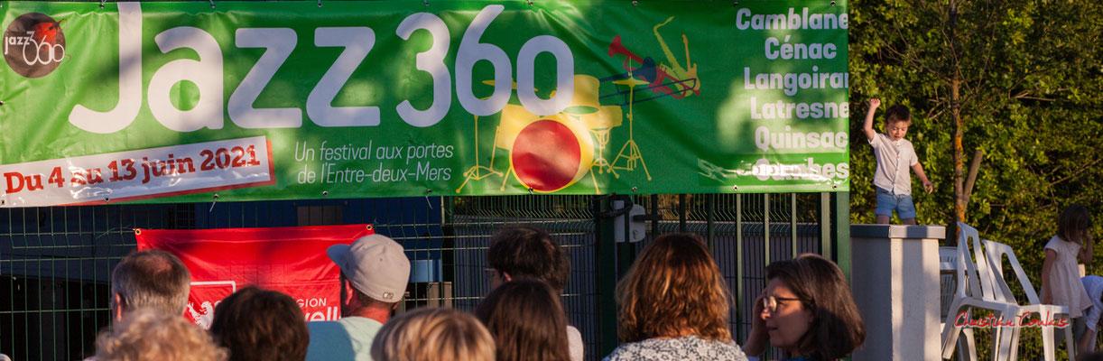 """""""Petit poucet à JAZZ360"""" Concert de Crawfish Wallet. Vendredi 25 juin 2021, M.A.S. LADAPT, Camblanes-et-Meynac. Photographie © Christian Coulais"""