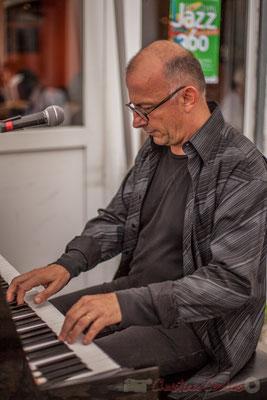 Fred Lasnier, Louisiana Jazz Duo. Festival JAZZ360 2016, restaurant les Acacias, Cénac