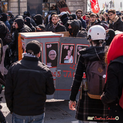 """14h42 """"Le train-train des lycéens/étudiants 6"""". Manifestation intersyndicale de la Fonction publique/cheminots/retraités/étudiants, place Gambetta, Bordeaux. 22/03/2018"""