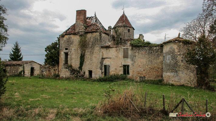 A l'arrière, tour octogonale du XVème ou XVIème siècle, Renaissance accolée au bâtiment principal. Château de Montignac, Cénac. 21/12/2009