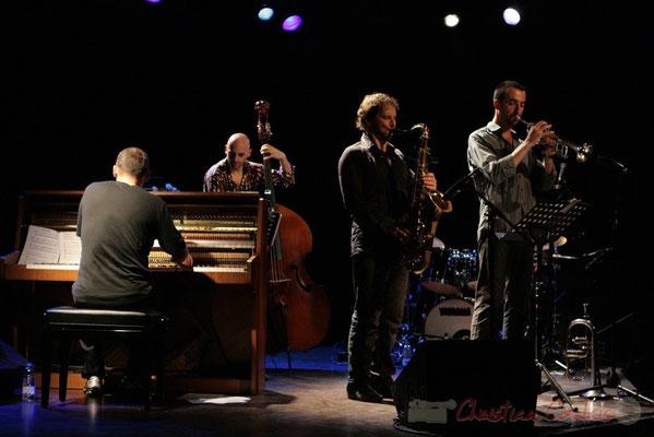 Jean-Yves Jung, Mauro Gargano, Frédéric Borey, Sylvain Gontard; Roger Biwandu Quintet, Festival JAZZ360 2011, Cénac. 03/06/2011