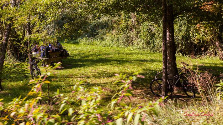 """""""Pique-nique à Lignan-de-Bordeaux"""" De Sadirac à l'ancienne gare de Citon-Cénac; 5km. Ouvre la voix, dimanche 5 septembre 2021. Photographie © Christian Coulais"""