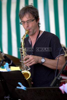 Festival JAZZ360 2014, Thierry Taveaux; Jazzméléon Trafic. Cénac, 07/06/2014