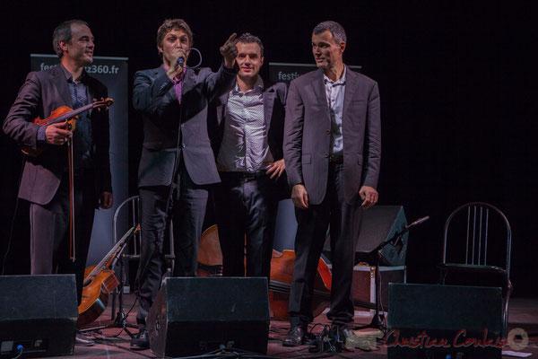 Laurent Vincenza, Minor Sing remercie toute l'équipe technique de Charlotte Leric. Festival JAZZ360 2016, Latresne, 12/06/2016