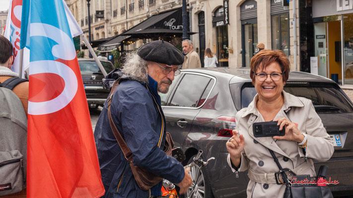 """""""Clic-clac c'est dans la boîte"""" Manifestation intersyndicale, Bordeaux, mardi 5 octobre 2021. Photographie © Christian Coulais"""